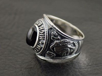 Japan import, 925 Sterling Silver High school memoriable Ring cross stone ring surface Ring