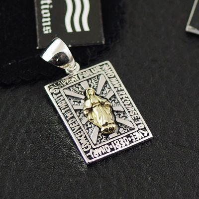 Original GV-good vibrations holy mother radiance Gothic Silver pendant