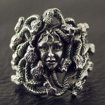 Japan Origin import, 925 Sterling Silver new Medusa Silver Gothic Ring