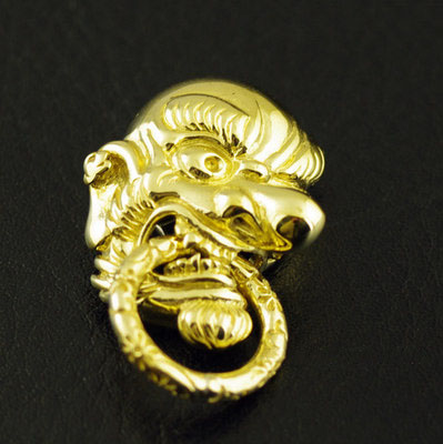 Japan import, lively Relief pure copper Japan Tengu Great God clip clip buckle