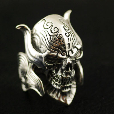 Japan import, 925 ?thick and heavy Garo Gintama tooth Male Design Silver Gothic Ring