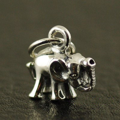 Japan import, 925 Sterling Silver minature minature elephant female Gothic Silver pendant