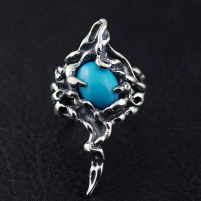 Japan import, 925 Sterling Silver thorns Silver Gothic Ring