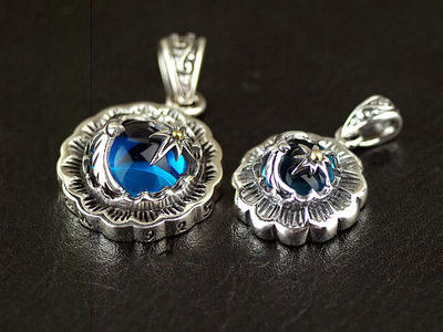 Japan import, Indiana style sun with male Eagle 925 Sterling Silver pendant unisex design