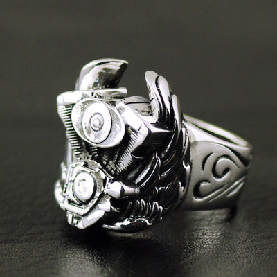 HARLEY-DAVISON motorcycle Male design import Silver Gothic Ring