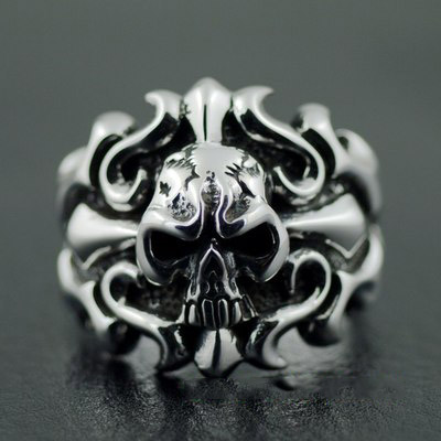 Japan import, cross skeleton import Silver Gothic Ring