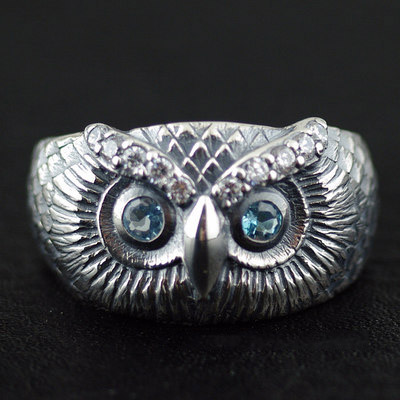 Japan import, 925 Sterling Silver owl Ring