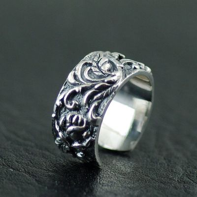 Japan import, new Gothic Style 925 Sterling Silver Rose ear clip, no need ear hole