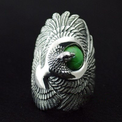 original import, Original new good vibrations Set with Turquoise Majestic Silver Male eagle Ring
