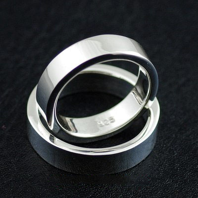 Japan import, 925 Sterling Silver neat plain Ring