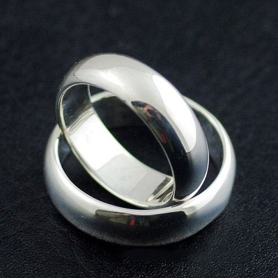 Japan import, 925 Sterling Silver simple round convex ring, can be made to couple rings