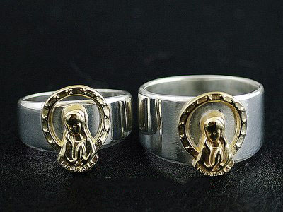 Japan import, golden holy lady radiance 925 Sterling Silver Ring, could be couple ring