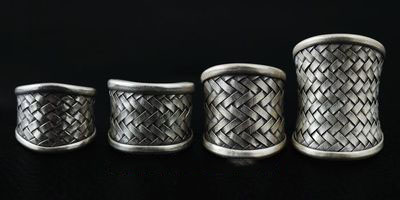 Korean Popular 925 Sterling Silver hand-woven Ring