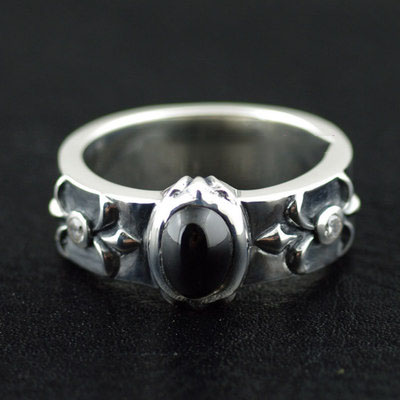 Japan import, 925 Sterling Silver thick and heavy Silver Gothic Ring