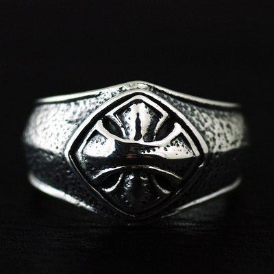 Japan import, celtic simple Male Design cross stamp Silver Gothic Ring