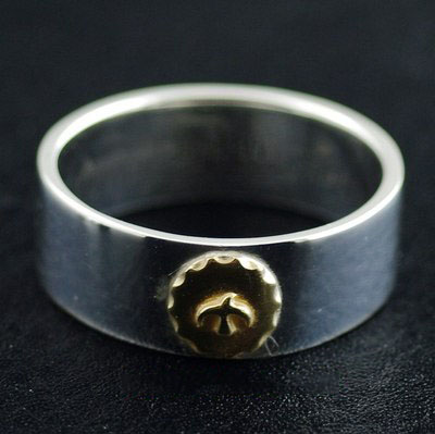 Japan import, sun tolem 925 Sterling Silver finger loop Ring, could be couple ring
