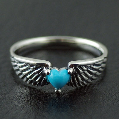 Japan import, Female Design 925 Sterling Silver angels wings female Ring