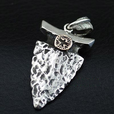 Japan import, Indiana style 925 Sterling Silver spear head pendant