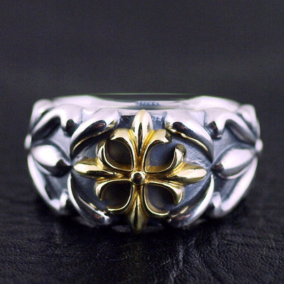 Japan import, Golden cross Gothic Style Silver Gothic Ring