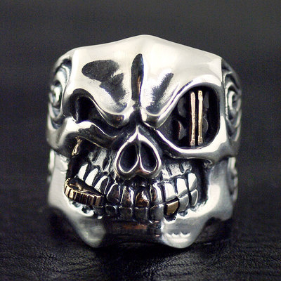 Japan import, STARLINGEAR design import Gothic Silver Skeleton ring