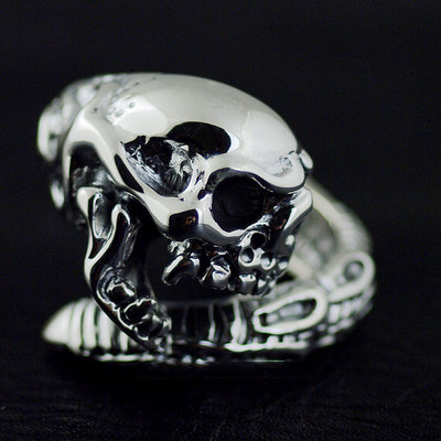 Japan import, mummy Pharaoh protector skeleton Gothic Silver open Ring