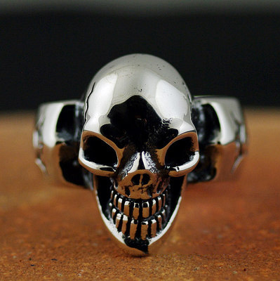 Japan import, gabor classic design Gothic Silver Skeleton ring