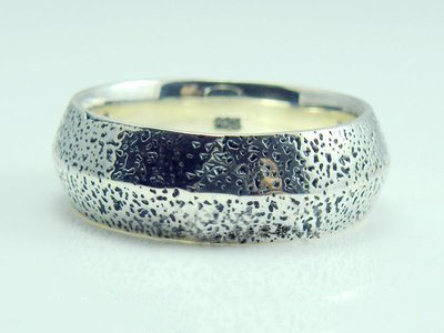 925 Sterling Silver thickness matt simple import Silver Gothic Ring