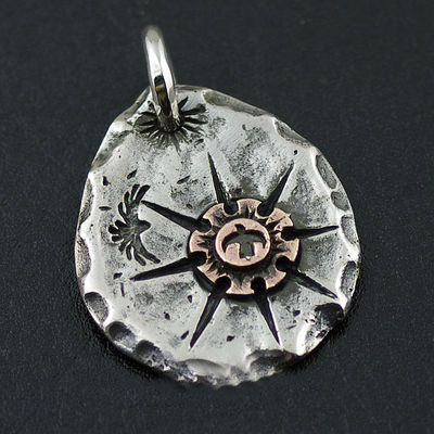 Japan import, Indiana GORO style sun tolem 925 Sterling Silver pendant