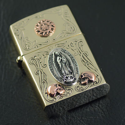 Japan import, silver copper mix shell Zippo gas lighter
