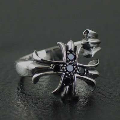 Japan import, wrapped ring 925 Sterling Silver cross Gothic Silver open Ring
