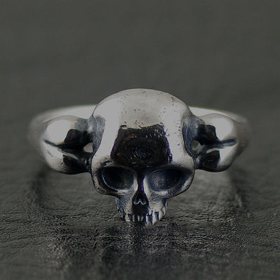 Japan import, fine bone skeleton Silver Gothic Ring