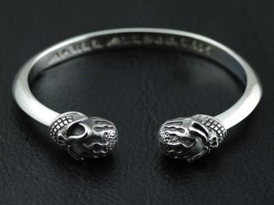 Japan import, STARLINGEAR thick and heavy open Gothic Silver skeleton bangle