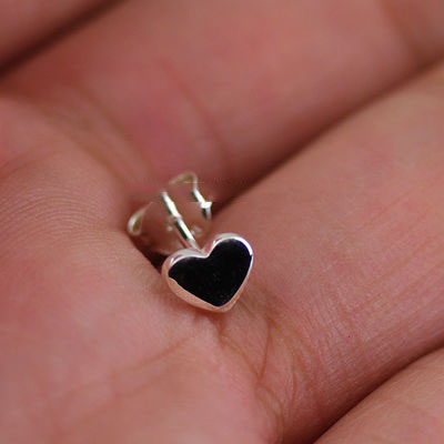 Japan import, hearts design Female Design Silver little earstud