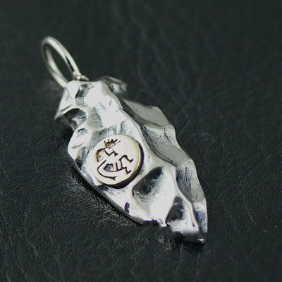 Japan import, Original GV new 925 Sterling Silver spear head pendant