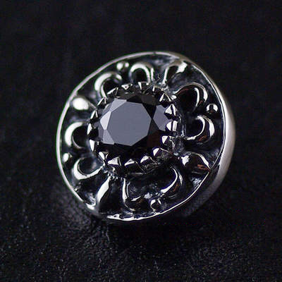 origin import, shiny set with diamonds 925 Sterling Silver button