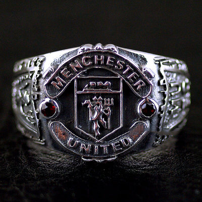 Japan import, 925 Sterling Silver Menchester medal Ring soccer fan Silver Gothic Ring