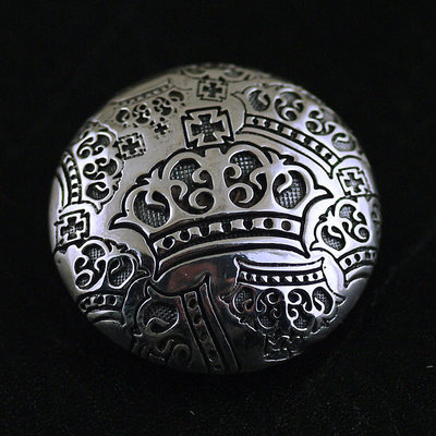 Japan import, crown elements Gothic Style 925 Sterling Silver clip clip buckle