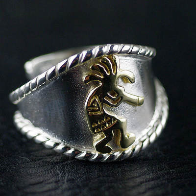 Japan import, 925 Sterling Silver Original GV new Indiana guardian open Ring
