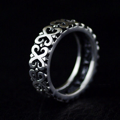 Japan import, 925 Sterling Silver hollow hearts design Silver Gothic Ring, (can be tail ring), couple ring