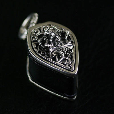 Japan import, fortune elephant 925 Sterling Silver package Nikon 10x magnifying glass, jewelry magnifying glass pendant