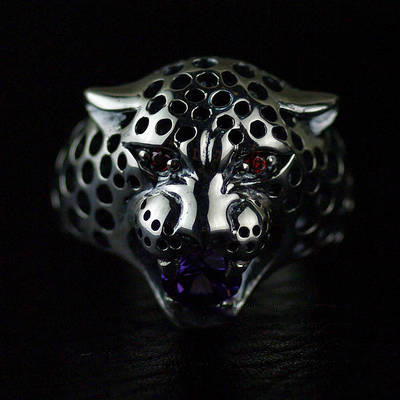 Japan import, Ferocious female leopard Female Design Silver Gothic Ring