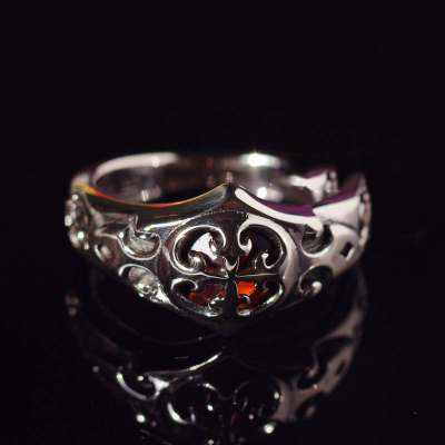 Japan import, sun ?cross Silver Gothic Ring