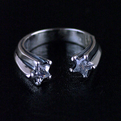 Japan import, Female Design 925 Sterling Silver Meteor Ring (can be tail ring)