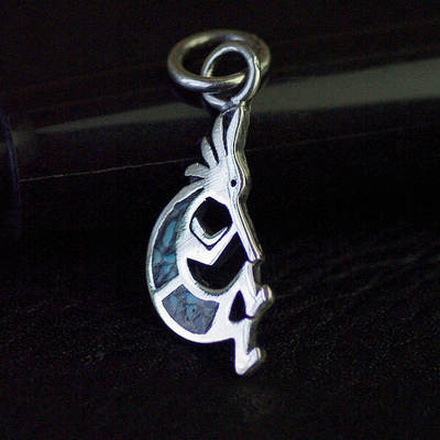 Japan import, Female Design Indiana guardian piper 925 Sterling Silver mini little pendant