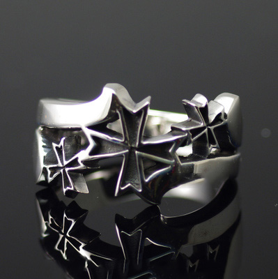 Japan import, cross medal import Silver Gothic Ring