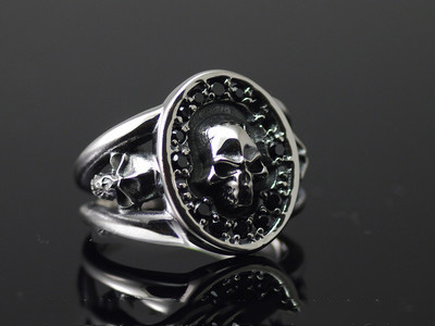 Japan import, refined Skeleton ring, 925 Sterling Silver Skeleton ring