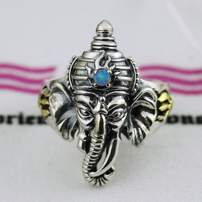 Japan import, Original oriental vibrations fortune elephant open Ring