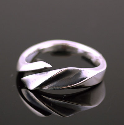 Japan import, evil devil wings 925 Sterling Silver open Ring, can be couple ring