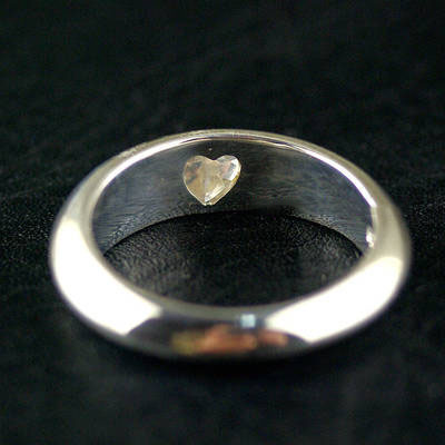 Japan import, love in the hearts simple 925 Sterling Silver Ring (can be tail ring) couple ring