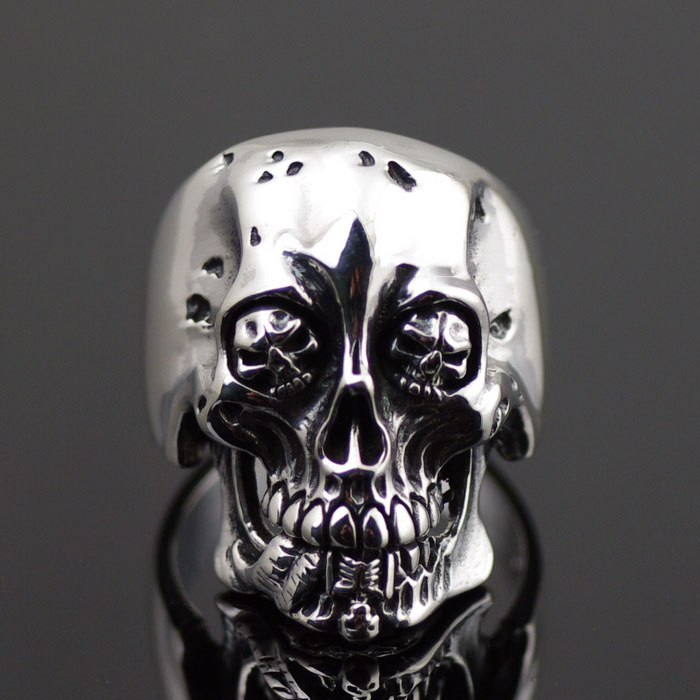 Japan import, 925 Sterling Silver Cannibal Corpse skeleton Silver Gothic Ring